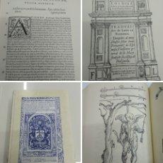 Libros antiguos: DE RE AEDIFICATORIA O LOS DIEZ LIBROS DE ARCHITECTURA LEONBATISTA ALBERTI ILUSTRADO FACSIMIL 1582. Lote 194067765
