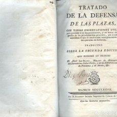 Libros antiguos: TRATADO DE LA DEFENSA DE LAS PLAZAS. Lote 194499272