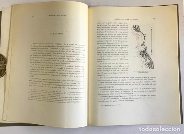 Libros antiguos: LAQÜEDUCTE ROMÀ DE PINEDA. - PRAT I PUIG, Francesc. - Foto 3 - 194681311