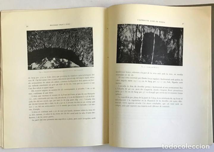 Libros antiguos: LAQÜEDUCTE ROMÀ DE PINEDA. - PRAT I PUIG, Francesc. - Foto 4 - 194681311