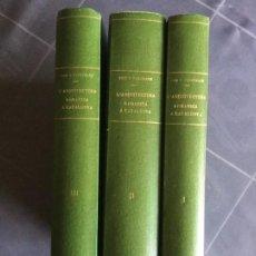 Libros antiguos: L'ARQUITECTURA ROMÀNICA A CATALUNYA. V. I-II-III. J. PUIG CADAFALCH, A. DE FALGUERA, J. GODAY. 1909.. Lote 194917450