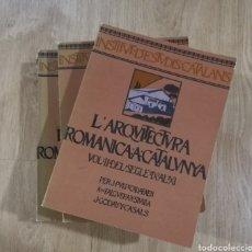 Libros antiguos: 4 VOLUMENES L'ARQUITECTURA ROMÀNICA A CATALUNYA FACSÍMIL. Lote 195138360
