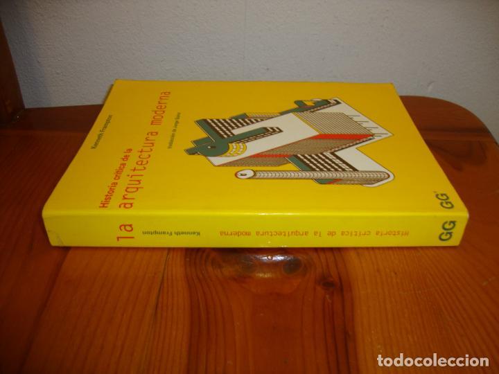 Libros antiguos: HISTORIA CRÍTICA DE LA ARQUITECTURA MODERNA - KENNETH FRAMPTON - GUSTAVO GILI, MUY BUEN ESTADO - Foto 2 - 195362490