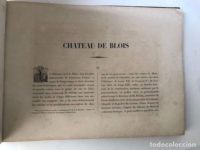 Libros antiguos: Album du chateau de Blois restauré...1851 - Foto 4 - 195996260