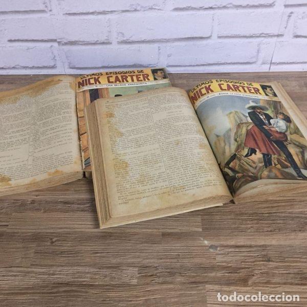 Libros antiguos: Exclusiva colección completa encuadernada de los episodios de Nick Carter años 30, 3 Tomos 100 númer - Foto 3 - 114321467