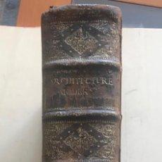 Libros antiguos: ARCHITECTURE MODERNE OU L'ART DE BIEN BATIR..., 1720. BRISEUX/JOMBERT. FRONTISPICIO Y 150 GRABADOS. Lote 198025000