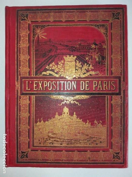 Libros antiguos: ESPECTACULAR EXPOSICION UNIVERSAL PARIS 1900 MONUMENTAL LIBRO 37 cm - Foto 2 - 198258843