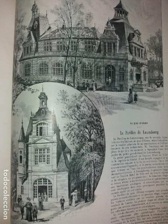 Libros antiguos: ESPECTACULAR EXPOSICION UNIVERSAL PARIS 1900 MONUMENTAL LIBRO 37 cm - Foto 29 - 198258843