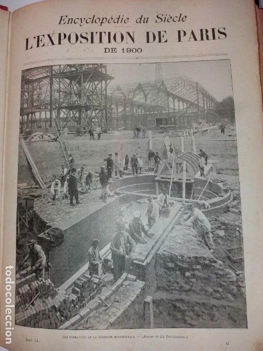 Libros antiguos: ESPECTACULAR EXPOSICION UNIVERSAL PARIS 1900 MONUMENTAL LIBRO 37 cm - Foto 104 - 198258843