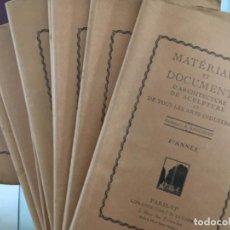 Libros antiguos: MATERIAUX ET DOCUMENTS D´ARCHITECTURE DE SCULPTURE, A. RAGUENET, 1872 A 1914, ARQUITECTURA. Lote 198326603