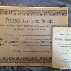 Libros antiguos: TABLEAUX AUXILIARES DELMAS. Lote 198678460
