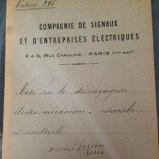 Libros antiguos: FRANCIA 1919 PROYECTO. Lote 198736447