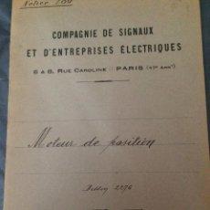 Libros antiguos: FRANCIA 1919 PROYECTO. Lote 198736636