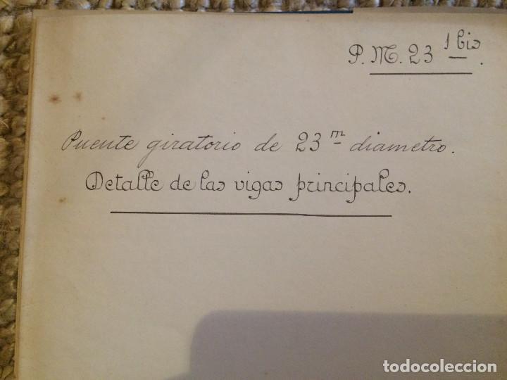 PUENTE GIRATORIO 1906 (Libros Antiguos, Raros y Curiosos - Bellas artes, ocio y coleccion - Arquitectura)