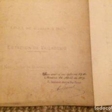 Libros antiguos: ESTACION DE VALLADOLID 1917 PROYECTO ORIGINAL + COPIA. Lote 198779463