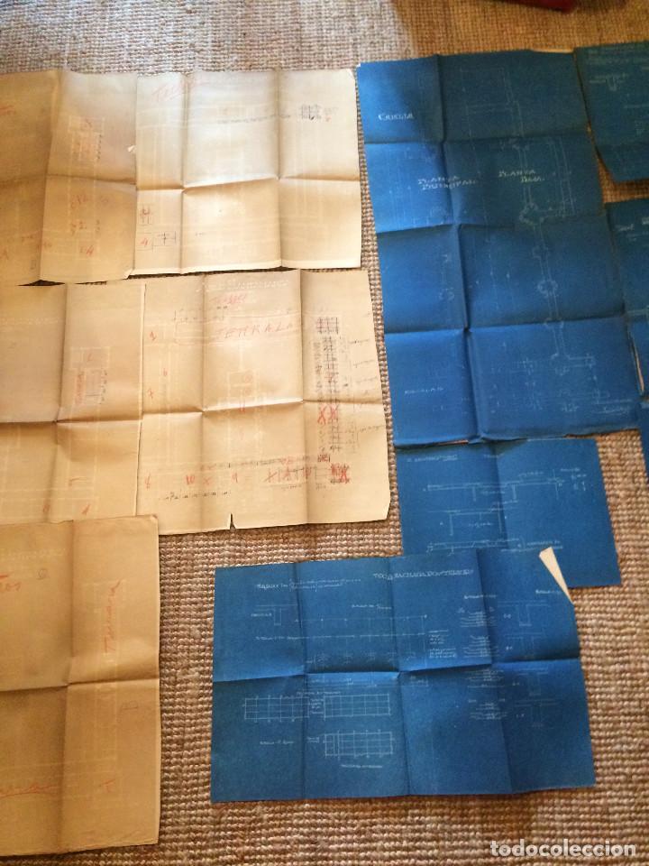 Libros antiguos: PLANOS ASILO SANTAMARCA (ORIGINALES) - Foto 2 - 198878123
