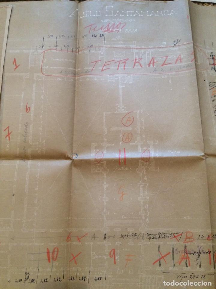 Libros antiguos: PLANOS ASILO SANTAMARCA (ORIGINALES) - Foto 4 - 198878123