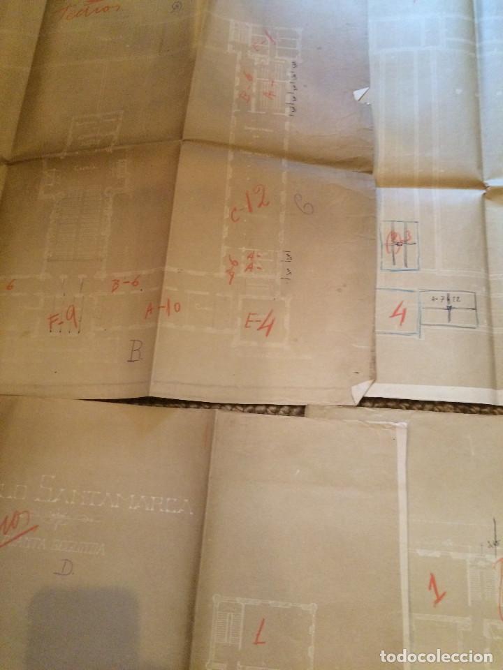 Libros antiguos: PLANOS ASILO SANTAMARCA (ORIGINALES) - Foto 5 - 198878123