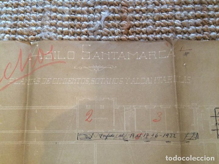 Libros antiguos: PLANOS ASILO SANTAMARCA (ORIGINALES) - Foto 6 - 198878123
