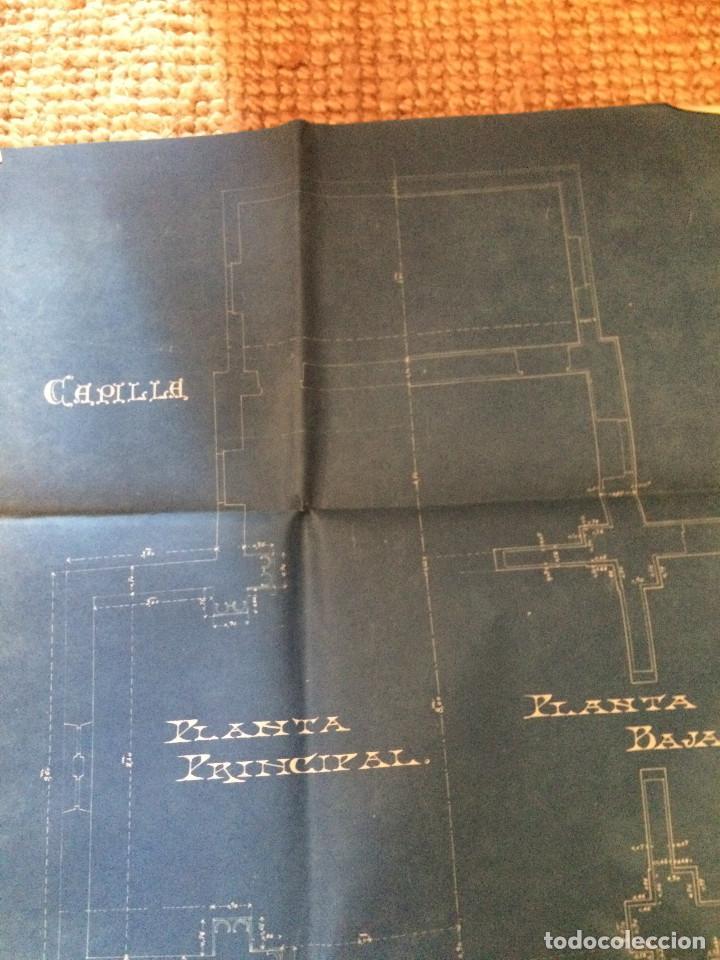 Libros antiguos: PLANOS ASILO SANTAMARCA (ORIGINALES) - Foto 7 - 198878123