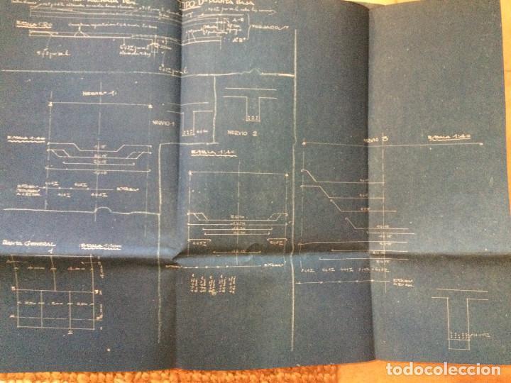 Libros antiguos: PLANOS ASILO SANTAMARCA (ORIGINALES) - Foto 8 - 198878123