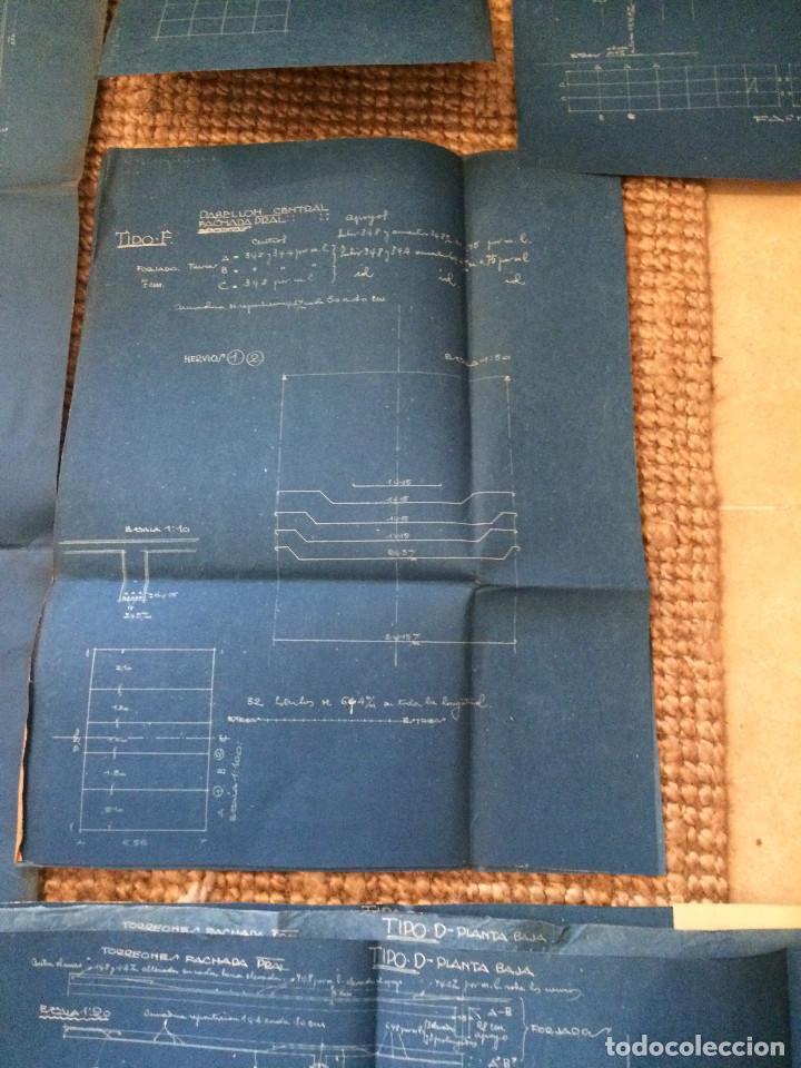 Libros antiguos: PLANOS ASILO SANTAMARCA (ORIGINALES) - Foto 9 - 198878123