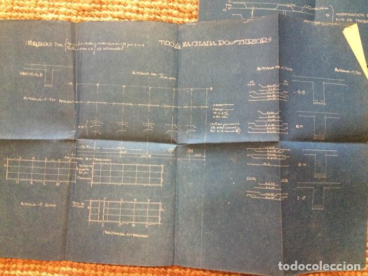 Libros antiguos: PLANOS ASILO SANTAMARCA (ORIGINALES) - Foto 10 - 198878123