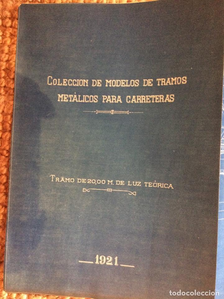 COLECCION DE MODELOS DE TRAMOS METALICOS PARA CARRETERAS 1921 (ORIGINALES) (Libros Antiguos, Raros y Curiosos - Bellas artes, ocio y coleccion - Arquitectura)