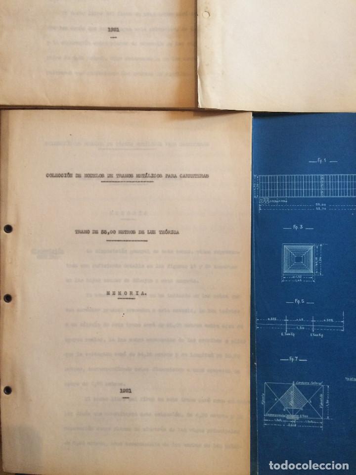 Libros antiguos: COLECCION DE MODELOS DE TRAMOS METALICOS PARA CARRETERAS 1921 (ORIGINALES) - Foto 3 - 198884572