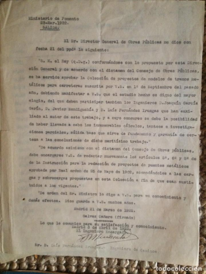 PROYECTO COMPLETO MINISTERIO FOMENTO 1922 (UNICO) (Libros Antiguos, Raros y Curiosos - Bellas artes, ocio y coleccion - Arquitectura)