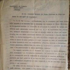 Libros antiguos: PROYECTO COMPLETO MINISTERIO FOMENTO 1922 (UNICO). Lote 199089905