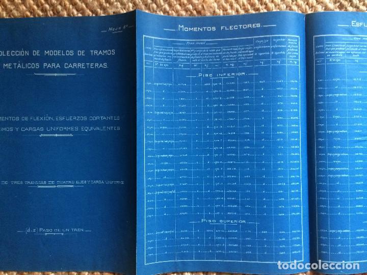 Libros antiguos: PROYECTO COMPLETO MINISTERIO FOMENTO 1922 (UNICO) - Foto 7 - 199089905