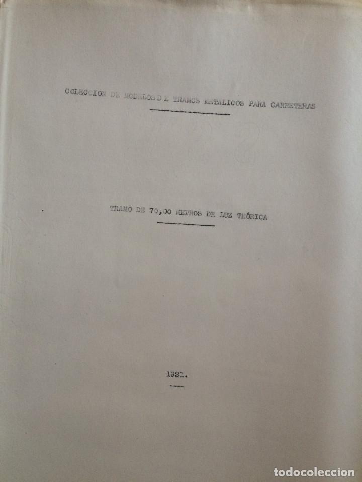 Libros antiguos: PROYECTO COMPLETO MINISTERIO FOMENTO 1922 (UNICO) - Foto 18 - 199089905