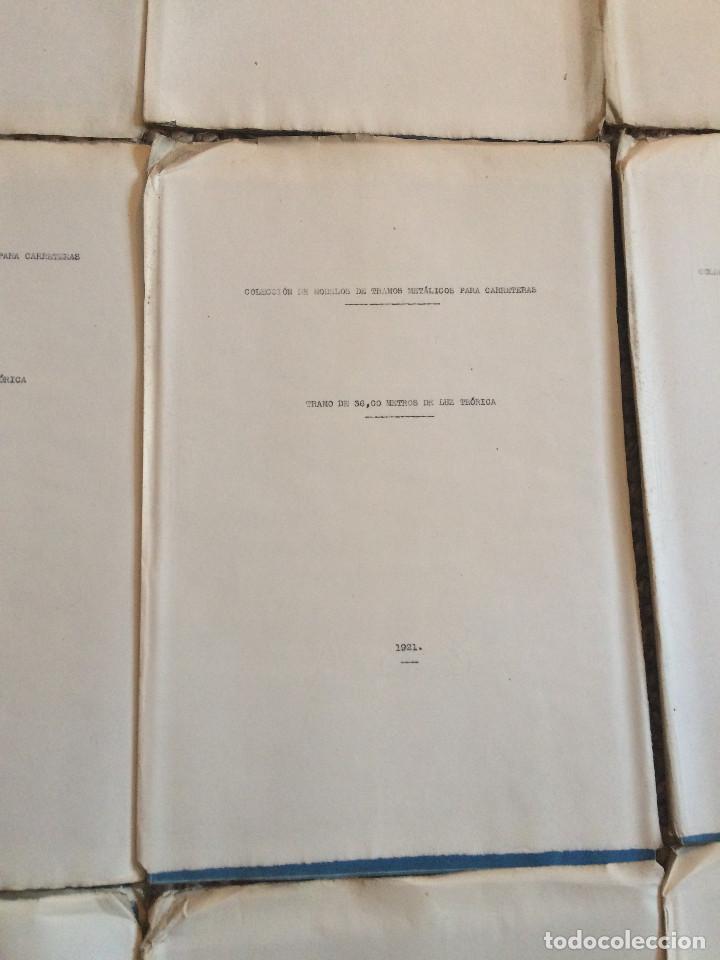 Libros antiguos: PROYECTO COMPLETO MINISTERIO FOMENTO 1922 (UNICO) - Foto 21 - 199089905
