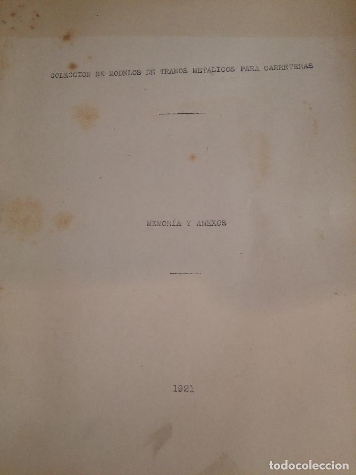 Libros antiguos: PROYECTO COMPLETO MINISTERIO FOMENTO 1922 (UNICO) - Foto 41 - 199089905