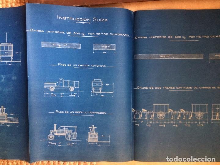 Libros antiguos: PROYECTO COMPLETO MINISTERIO FOMENTO 1922 (UNICO) - Foto 50 - 199089905
