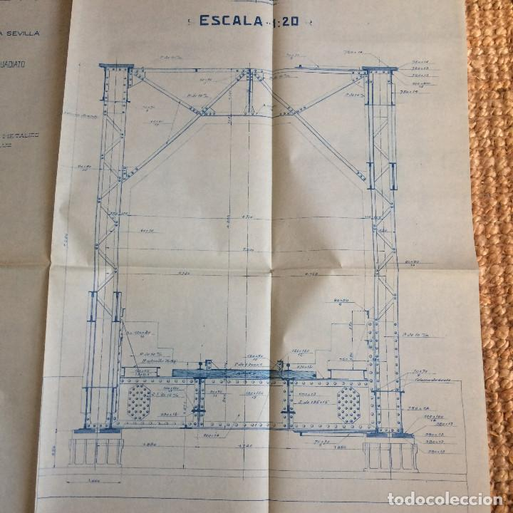 Libros antiguos: LINEA CORDOBA SEVILLA (PUENTE SOBRE RIO GUADIATO 1917) PROYECTO ORIGINAL COMPLETO - Foto 5 - 199102475
