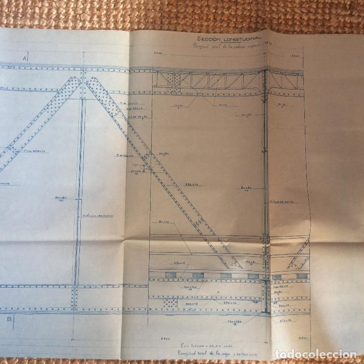 Libros antiguos: LINEA CORDOBA SEVILLA (PUENTE SOBRE RIO GUADIATO 1917) PROYECTO ORIGINAL COMPLETO - Foto 12 - 199102475