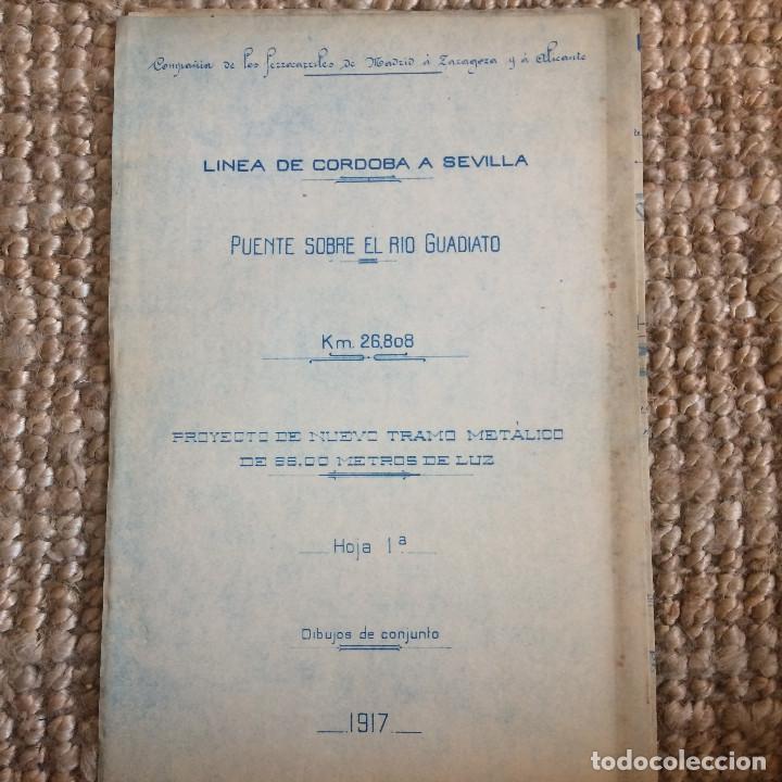 Libros antiguos: LINEA CORDOBA SEVILLA (PUENTE SOBRE RIO GUADIATO 1917) PROYECTO ORIGINAL COMPLETO - Foto 13 - 199102475