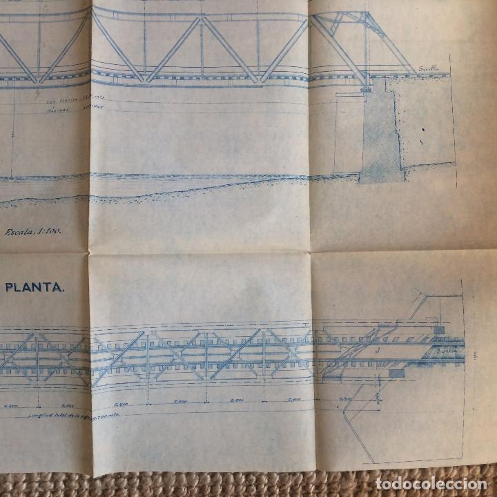 Libros antiguos: LINEA CORDOBA SEVILLA (PUENTE SOBRE RIO GUADIATO 1917) PROYECTO ORIGINAL COMPLETO - Foto 16 - 199102475