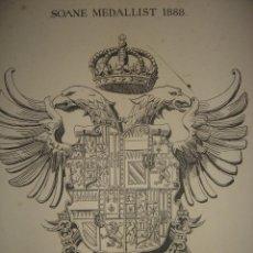 Libros antiguos: FRONTISPICIO LIBRO ARQUITECTURA RENACENTISTA EN ESPAÑA, ESCUDO IMPERIAL CARLOS V, LONDRES, 1893.. Lote 200349362