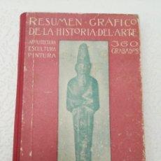 Libros antiguos: RESUMEN GRÁFICO DE LA HISTORIA DEL ARTE ARQUITECTURA ESCULTURA Y PINTURA 360 GRABADOS TAPA DURA. Lote 201754523