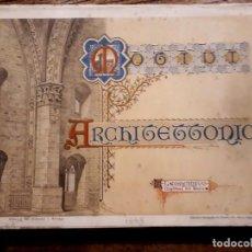 Libros antiguos: MOTIVI ARCHITETTINICI.124 LÁMINAS LEONCINI 1898 ARQUITECTURA LOMBARDO BARROCO GÓTICO RENACENTISTA. Lote 207246725