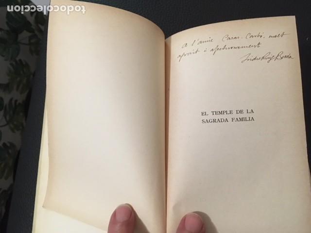 Libros antiguos: EL TEMPLE DE LA SAGRADA FAMILIA. J.PUIG BOADA. 1929. DEDICATORIA DEL AUTOR. GAUDI. - Foto 2 - 208286537