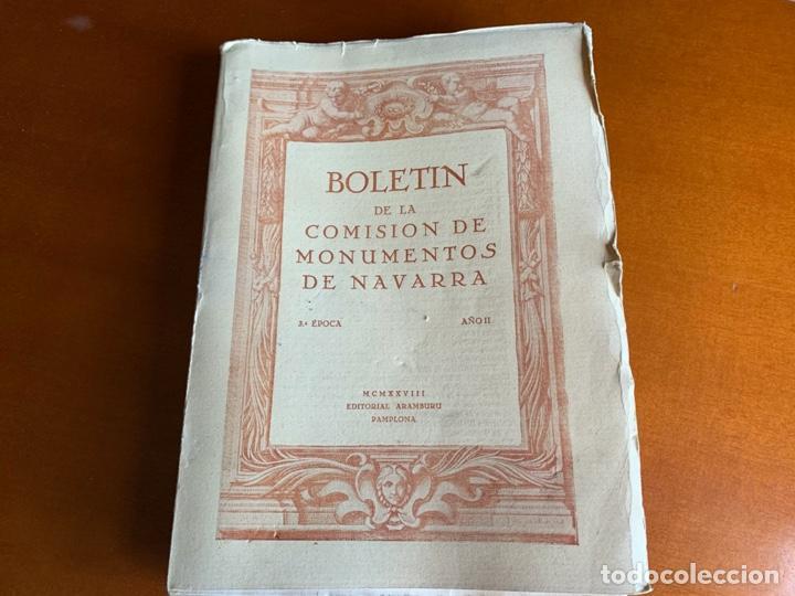 BOLETÍN DE LA COMISIÓN DE MONUMENTOS DE NAVARRA - 1928 E. ARAMBURU. PAMPLONA VOL 2 (Libros Antiguos, Raros y Curiosos - Bellas artes, ocio y coleccion - Arquitectura)