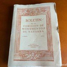 Libros antiguos: BOLETÍN DE LA COMISIÓN DE MONUMENTOS DE NAVARRA - 1928 E. ARAMBURU. PAMPLONA VOL 2. Lote 208761208