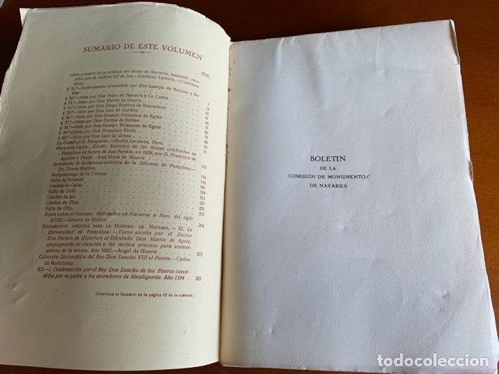 Libros antiguos: BOLETÍN DE LA COMISIÓN DE MONUMENTOS DE NAVARRA - 1928 E. ARAMBURU. PAMPLONA VOL 2 - Foto 2 - 208761208