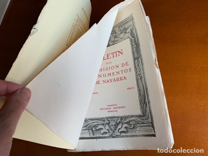 Libros antiguos: BOLETÍN DE LA COMISIÓN DE MONUMENTOS DE NAVARRA - 1928 E. ARAMBURU. PAMPLONA VOL 2 - Foto 3 - 208761208