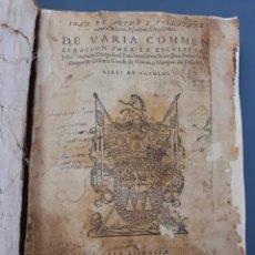 Libros antiguos: 1585-1587 JUAN DE ARPHE Y VILLAFAÑE VARIA COMMESURACION - PRIMERA EDICION - RARISIMO!! - RESTAURADO. Lote 210338791