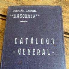 """Libros antiguos: CATÁLOGO GENERAL DE COMPAÑÍA ANÓNIMA """"BASCONIA"""". Lote 210389952"""